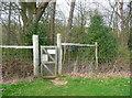 TL2221 : Gate on the public footpath through the Knebworth Estate by Humphrey Bolton
