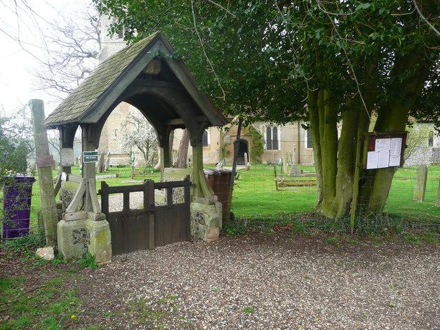 The lychgate, Knebworth Church