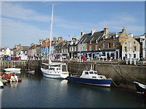 NO5603 : Shore Street and the Western Harbour at Anstruther by Oliver Dixon