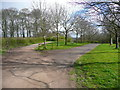 SE3531 : Junction of bridleways in Temple Newsam Country Park, Leeds by Humphrey Bolton