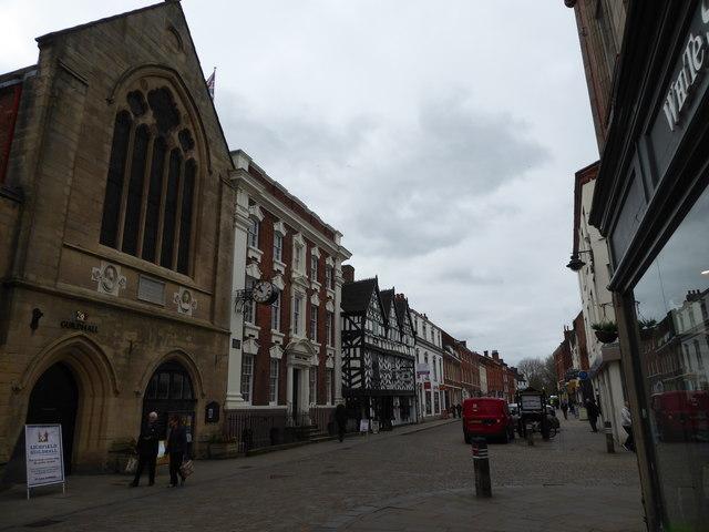 Street scene in Lichfeild near the Guildhall