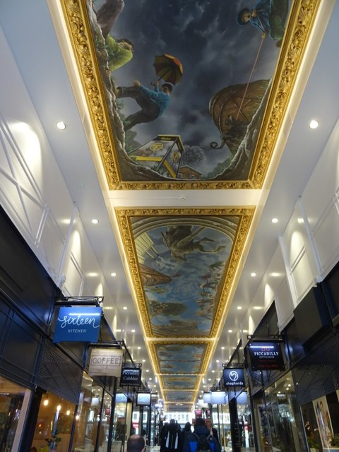 The ceiling of Piccadilly Arcade