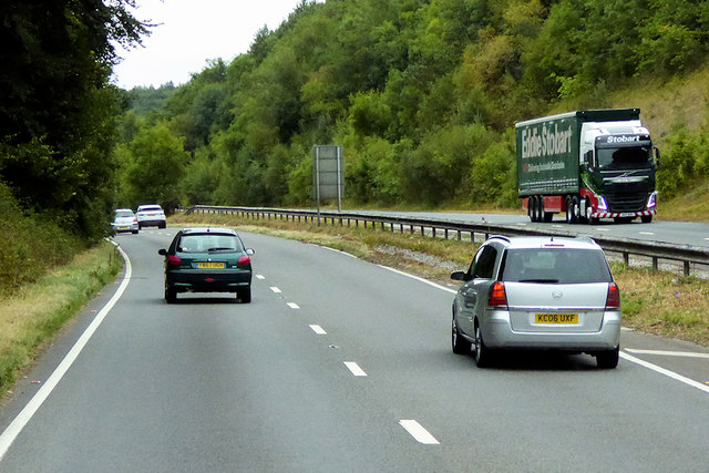 Northbound A380 near Ideford Commmon