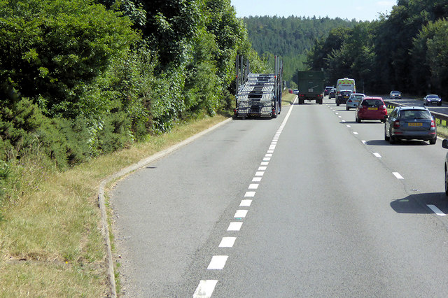 Layby on the A380, Haldon Forest