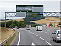 SX9185 : Sign Gantry over the Devon Expressway (A38) by David Dixon