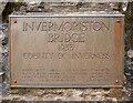 NH4116 : Plaque on Invermoriston Bridge by Craig Wallace