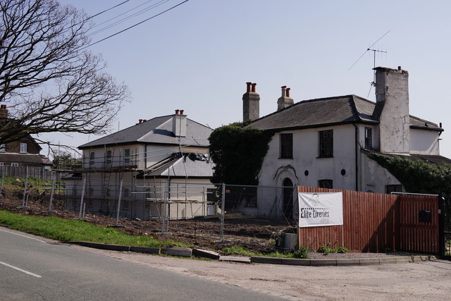 Building at Vicarage Farm by Peter Trimming