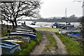 TM1734 : Boats stored at Alton Wharf by Simon Mortimer