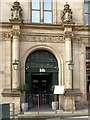 SK5739 : Entrance to the former Head Post Office, Queen Street by Alan Murray-Rust
