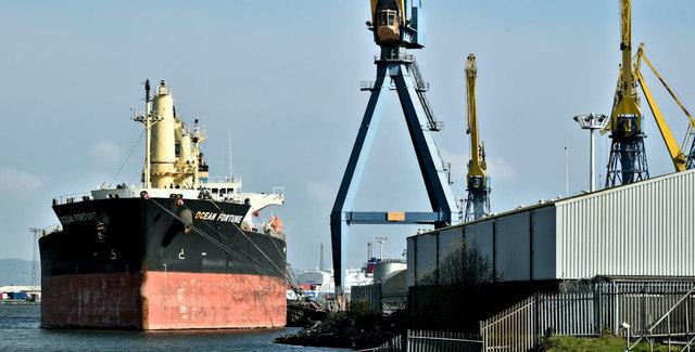 """The """"Ocean Fortune"""", Belfast harbour - April 2019(2)"""