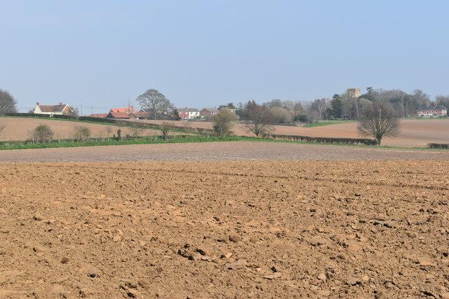 Ploughed fields near Erwarton