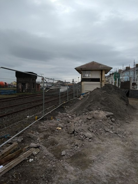 Signal box and Water tower Portrush Station