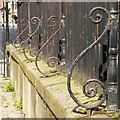 SK5739 : Churchyard wall and railings, St Mary's Church, Nottingham by Alan Murray-Rust