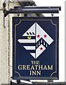 SU7731 : Greatham Inn Pub Sign in Hampshire by John P Reeves