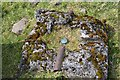 NS9430 : Centre mark at base of Dungavel Hill trig pillar by Jim Barton