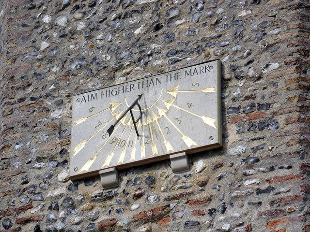 Sundial on St. Mary's Church