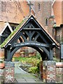 SJ9395 : St Anne's Lychgate by Gerald England