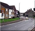 SO6302 : Warning sign - School, Church Road, Lydney by Jaggery