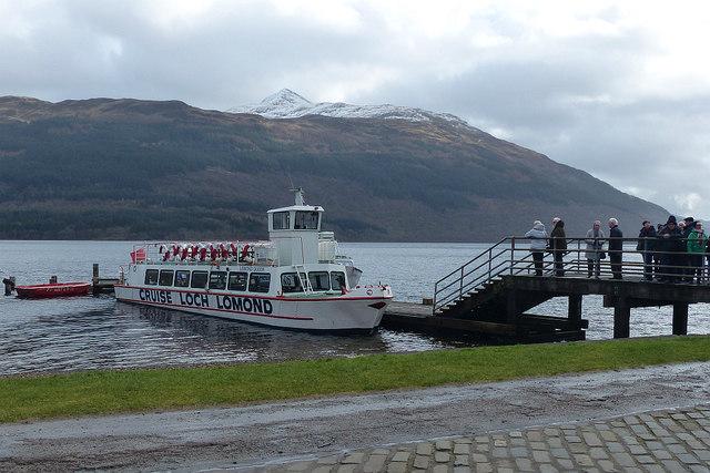 Cruise boat, Tarbet Pier, Loch Lomond
