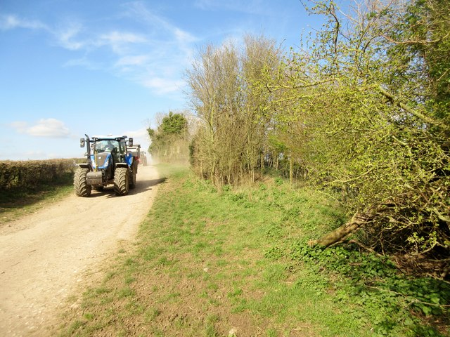 Tractors returning to Lychpole Farm