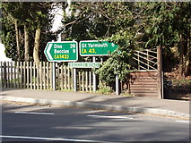 TM4599 : Roadsigns on the A143 Beccles Road by Adrian Cable