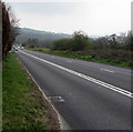 SO3103 : Usk Road descends towards Little Mill, Monmouthshire by Jaggery
