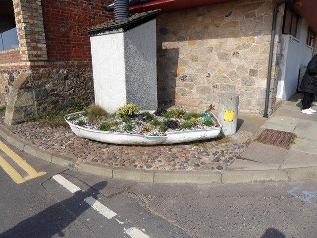 Floral boat on Main Street, Lower Largo by Oliver Dixon