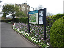 SU9949 : Guildford Castle Grounds: notice board by Basher Eyre
