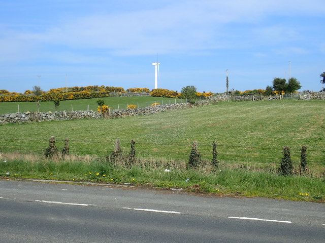 Wind turbine above the A50 (Newcastle Road)