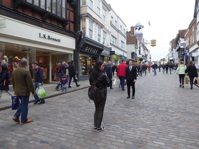 High Street, Guildford: early April 2019