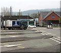 SO3013 : Raglan Dairy van in Abergavenny by Jaggery