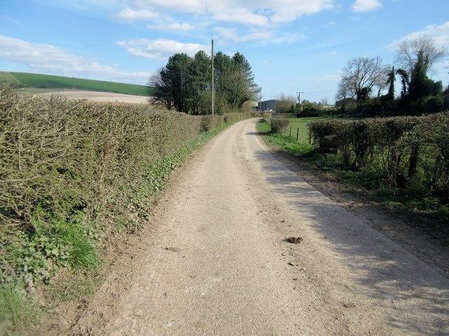 Track at Lychpole farm
