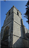 SY9287 : Tower, Lady St Mary church, Wareham by Derek Harper