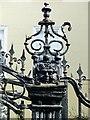 SK5739 : Gate and railings at Churchill House, Heathcoat Street, Nottingham by Alan Murray-Rust