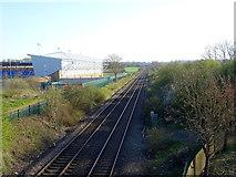 SJ4910 : Railway towards Hereford by JThomas