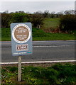 SN9926 : Keep Wales Tidy notice, Libanus, Powys by Jaggery