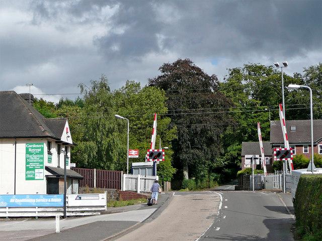 Station Road in Barlaston, Staffordshire