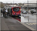ST3088 : Stagecoach bus in a large puddle, Queensway, Newport by Jaggery