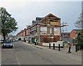 SK5837 : West Bridgford: building work on Stratford Road by John Sutton