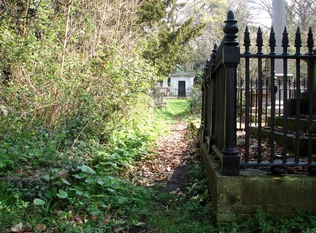Path to the Cooper Mausoleum