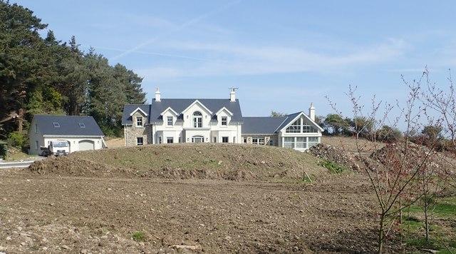 House under construction overlooking the Burren River