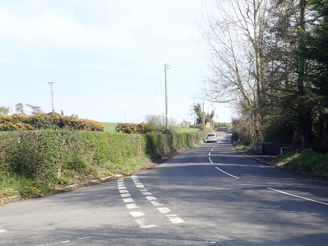 The eastern section of Ballyhafry Road