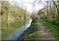 SP6593 : Closed towpath along the Grand Union Canal by Mat Fascione