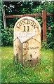 TQ1174 : Old Milepost by Milestone Society