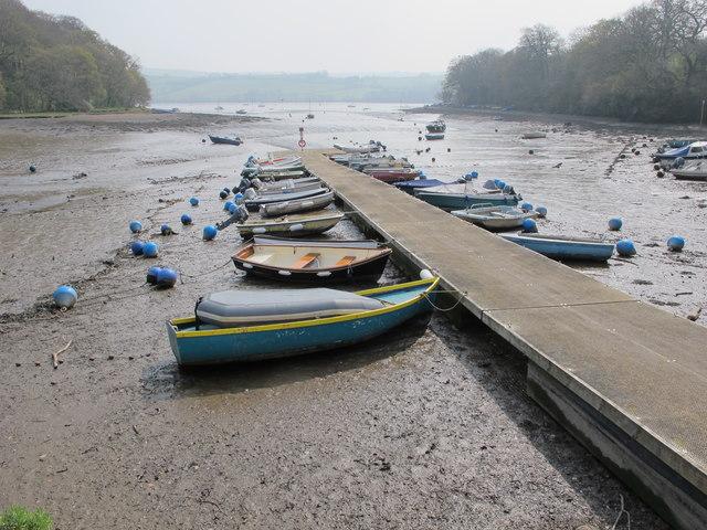 Stoke Gabriel pontoon at low tide