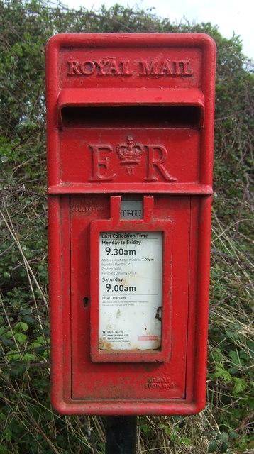 Close up, Elizabeth II postbox on A466,    © JThomas