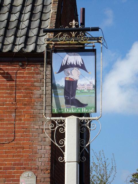 The Dukes Head Public House sign