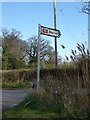 TM4897 : Somerleyton Railway Station sign by Adrian Cable