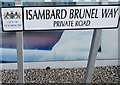 SX4754 : Isambard Brunel Way name sign, Plymouth by Jaggery