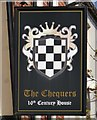 TQ5354 : The Chequers Pub Sign in Sevenoaks by John P Reeves